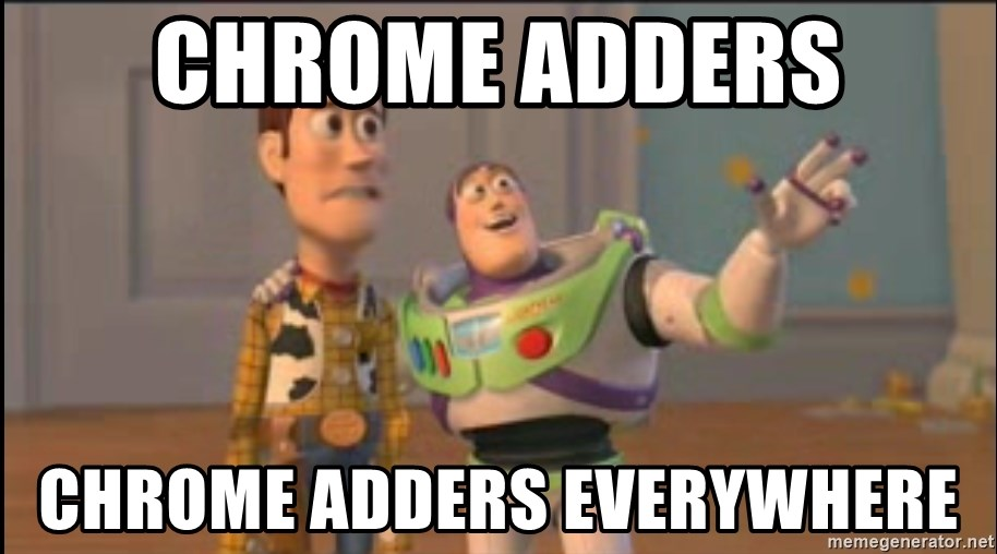 X, X Everywhere  - CHROME ADDERS CHROME ADDERS EVERYWHERE