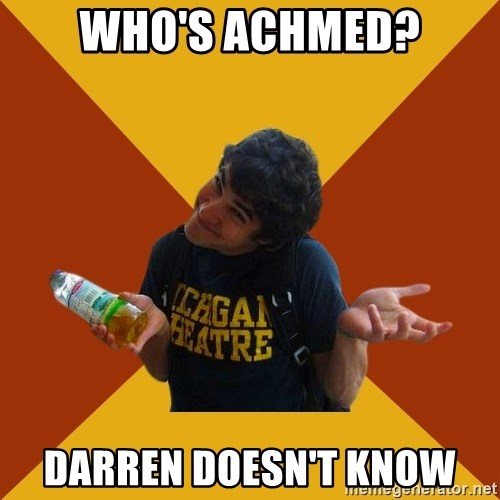 Darren Criss Doesnt Know - who's achmed? Darren doesn't know