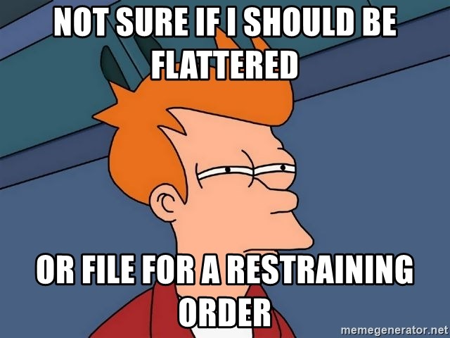 Futurama Fry - not sure if i should be flattered or file for a restraining order