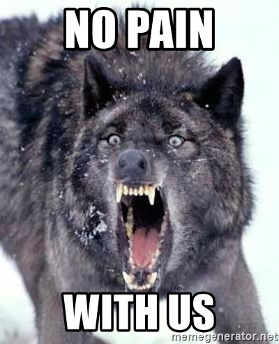 Angry Ass Wolf - no pain with us