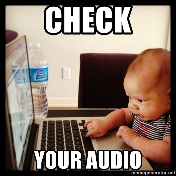 Hold on Mom just let me check the stock market real quick...the food can wait  - CHECK YOUR AUDIO
