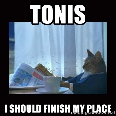 i should buy a boat cat - tonis i should finish my place