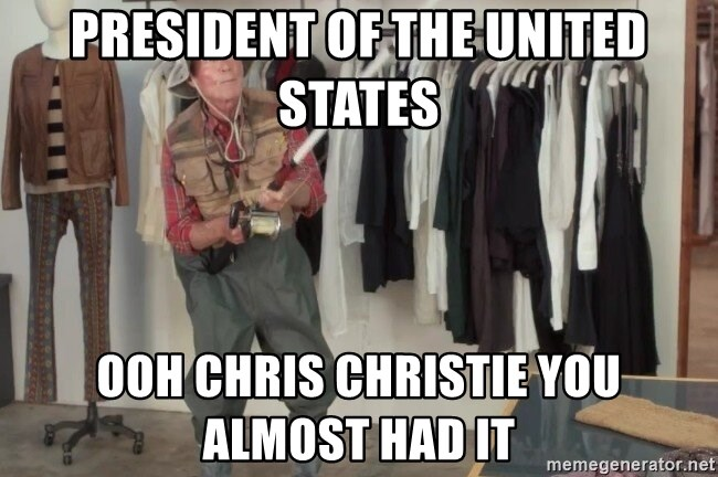 State Farm Fisherman - president of the united states ooh chris christie you almost had it