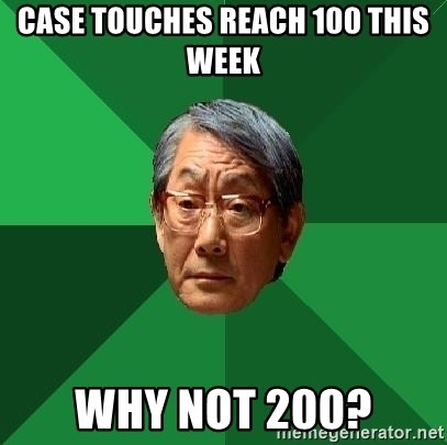 High Expectations Asian Father - Case touches reach 100 this week why not 200?