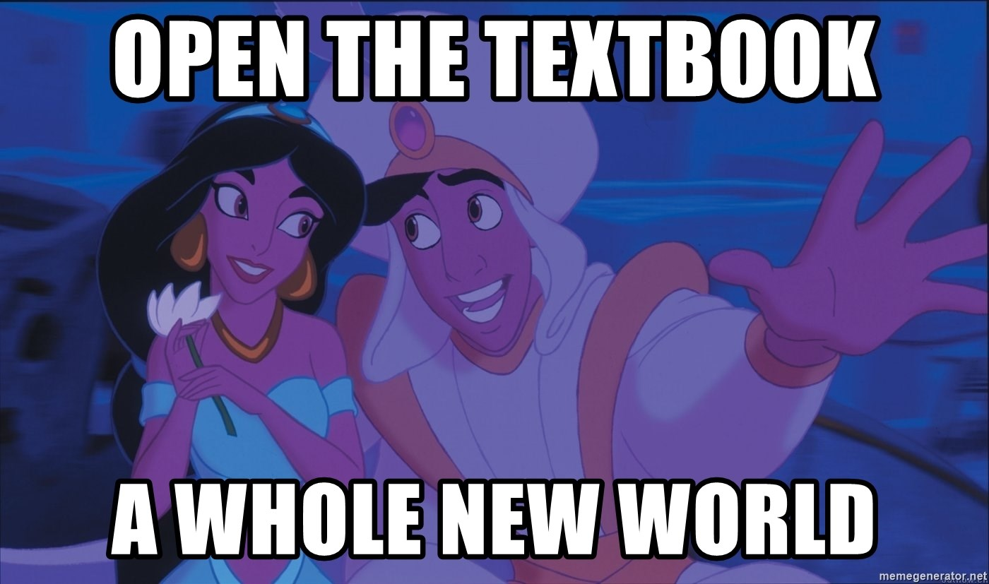 Aladdin and Jasmine - Open the textbook A whole new world