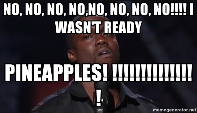 Kevin Hart Face - NO, NO, NO, NO,NO, NO, NO, NO!!!! I WASN'T READY PINEAPPLES! !!!!!!!!!!!!!!!