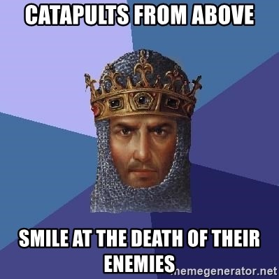 Age Of Empires - CATApults from above smile at the death of their enemies
