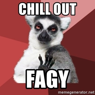 Chill Out Lemur - chill out  fagy