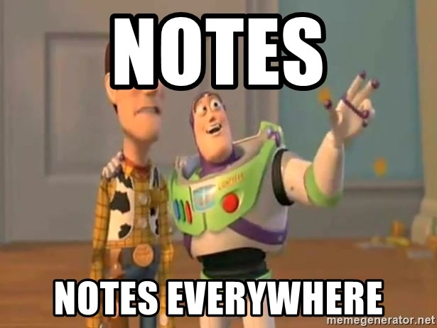 X, X Everywhere  - Notes Notes everywhere
