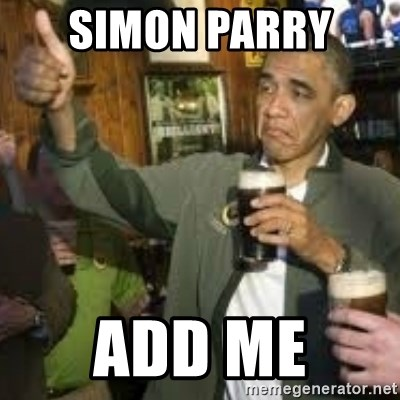 obama beer - SIMON PARRY  add me