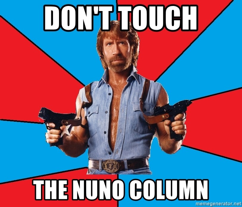 Chuck Norris  - Don't touch the nuno column