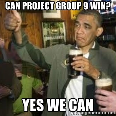 obama beer - Can project group 9 win? Yes we can