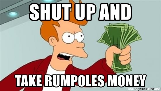 Shut up and take my money Fry blank - SHUT UP AND take rumpoles money