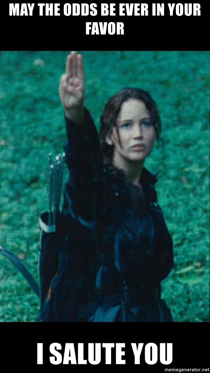 Katniss Three Finger Salute - may the odds be ever in your favor i salute you