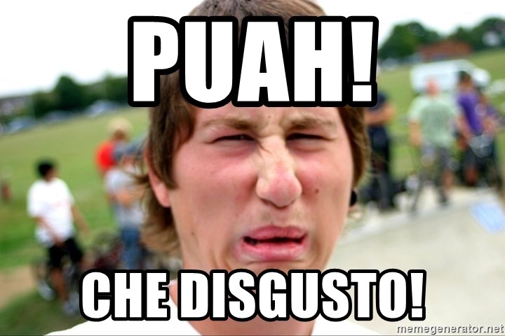 Disgusted Nigel - puah! che disgusto!