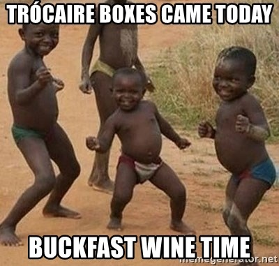 Happy african kids - Trócaire BOXES CAME TODAY BUCKFAST WINE TIME