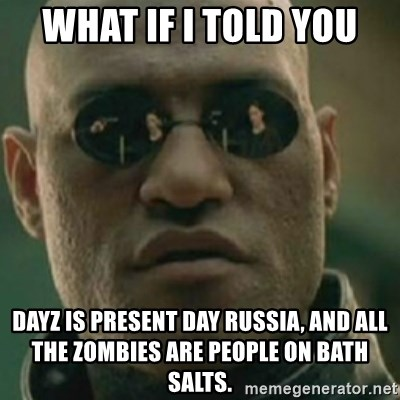 Nikko Morpheus - What if I told you Dayz is present day russia, and all the zombies are people on bath salts.