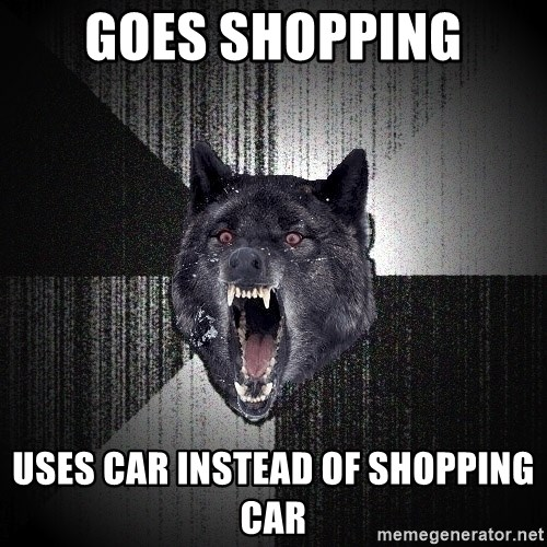 Insanity Wolf - GOES SHOPPING USES CAR INSTEAD OF SHOPPING CAR