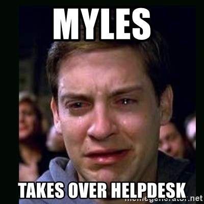 crying peter parker - myles takes over helpdesk