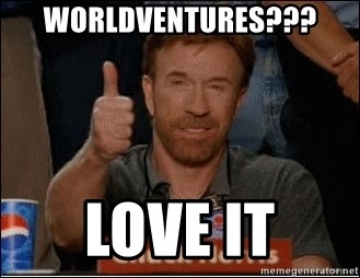 Chuck Norris Approves - WORLDVENTURES??? LOVE IT