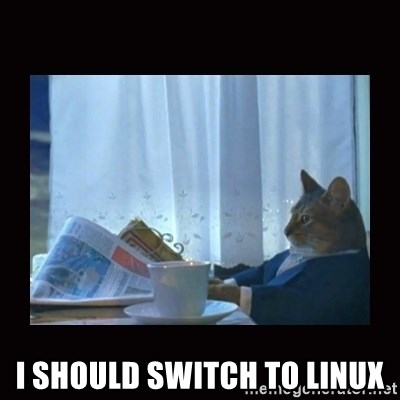 i should buy a boat cat -  I should switch to Linux