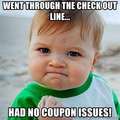 Victory Baby - Went through the check out line... Had no coupon issues!
