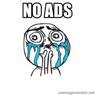 Crying face - no ads