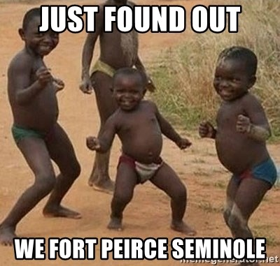 Happy african kids - just found out  We fort peirce seminole