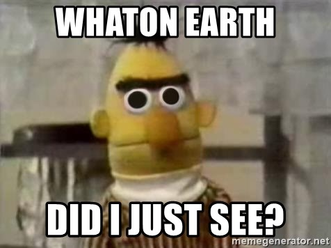 Bert - Whaton earth Did i just see?
