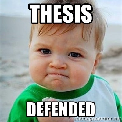 Victory Baby - Thesis Defended