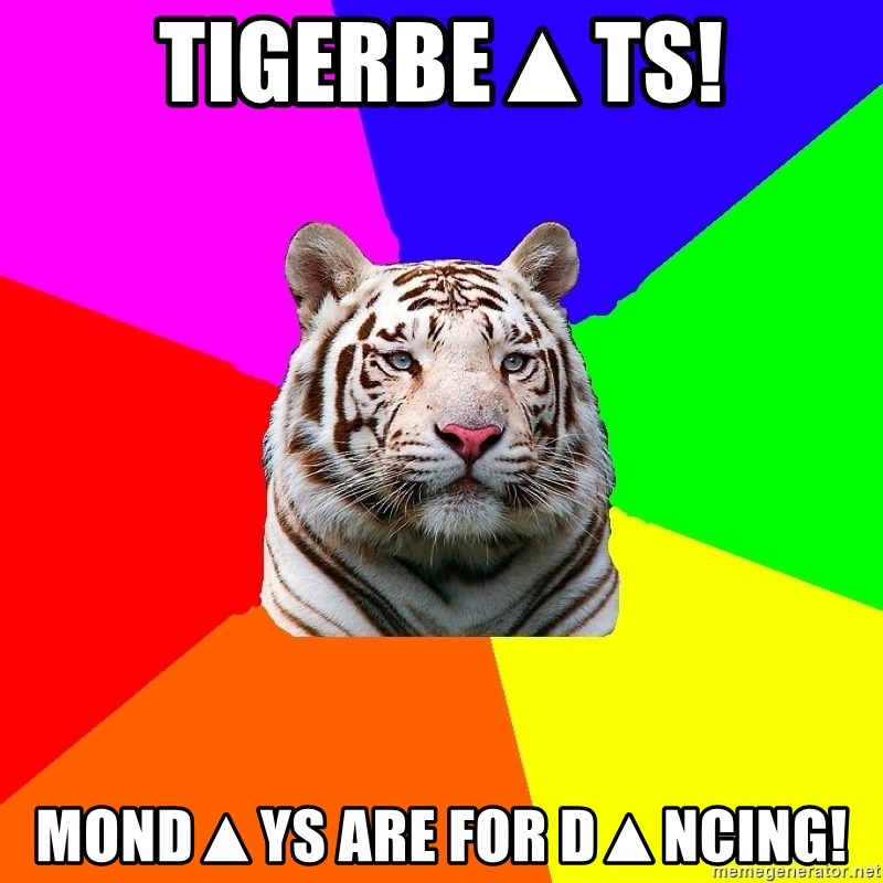 yearbook white tiger - TIGERbE▲ts! MOND▲YS ARE FOR D▲NCING!