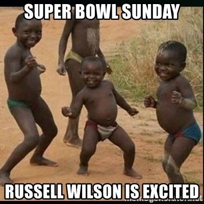 Dancing black kid - SUPER BOWL SUNDAY Russell Wilson is EXCITED