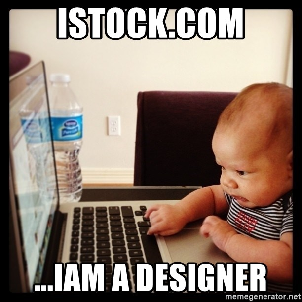 Hold on Mom just let me check the stock market real quick...the food can wait  - Istock.com ...iam a designer