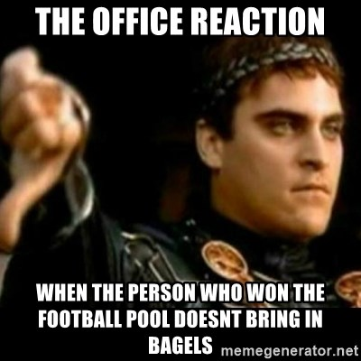 The Office Reaction When The Person Who Won The Football Pool Doesnt