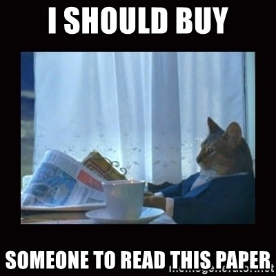 i should buy a boat cat - I SHOULD BUY SOMEONE TO READ THIS PAPER