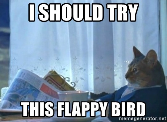 newspaper cat realization - i should try this flappy bird