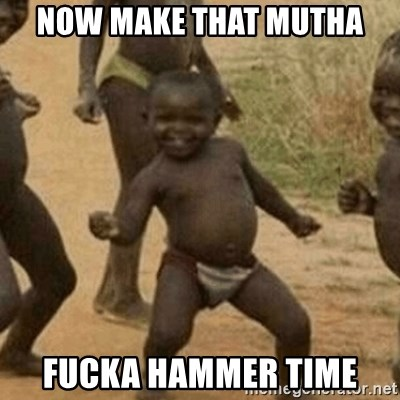 Little Black Kid - now make that mutha fucka hammer time