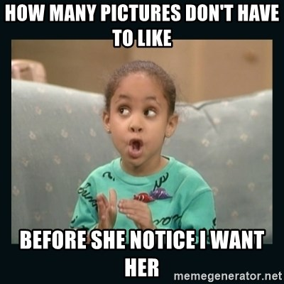 Raven Symone - How many pictures don't have to like Before she notice I want her