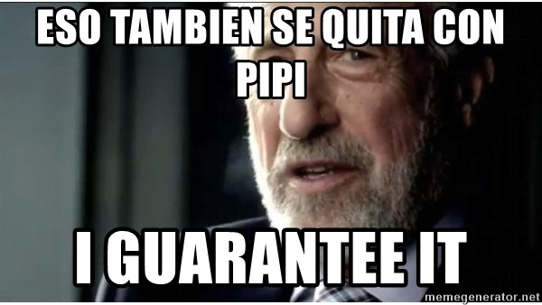 mens wearhouse - eso tambien se quita con pipi I GUARANTEE IT