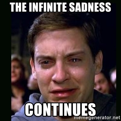 crying peter parker - The infinite sadness continues