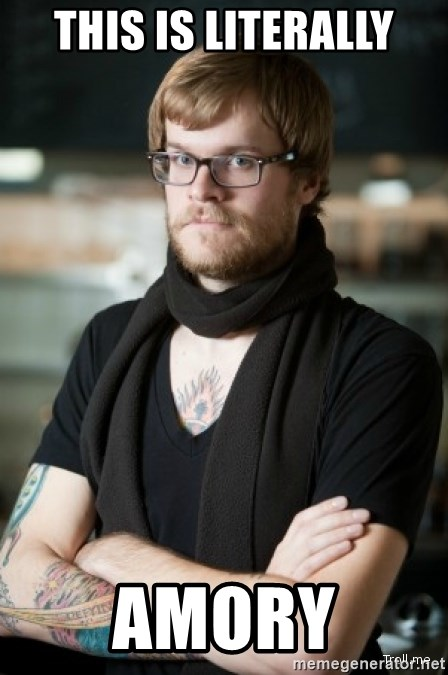 hipster Barista - This is literally Amory