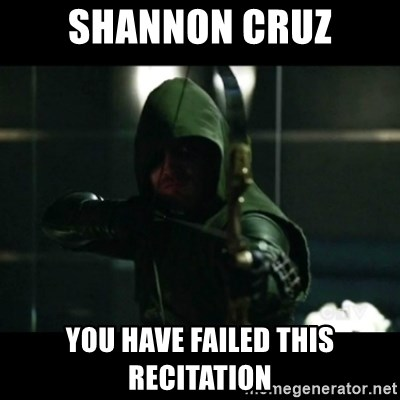YOU HAVE FAILED THIS CITY - sHANNON CRUZ YOU HAVE FAILED THIS RECITATION