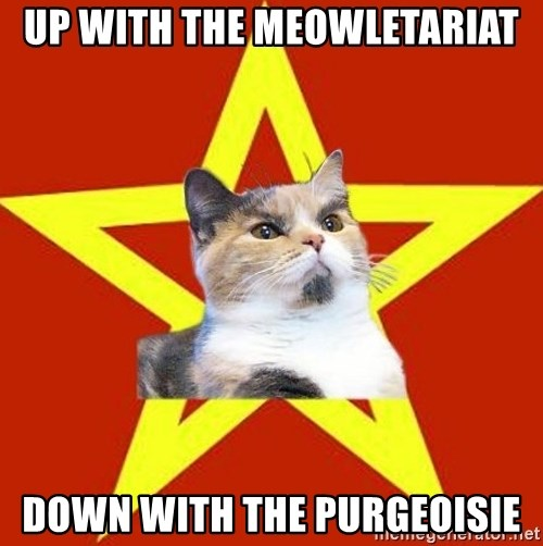 Lenin Cat Red - Up with the meowletariat down with the purgeoisie