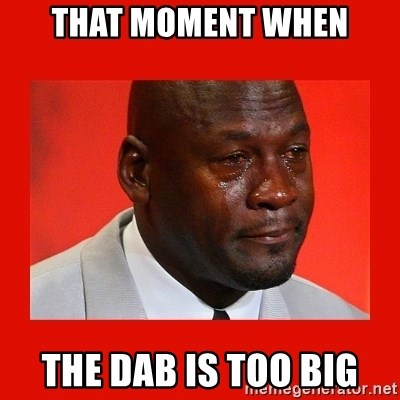 crying michael jordan - That moment when The dab is too big