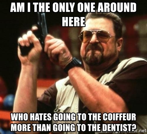 i'm the only one - Am i the only one around here who hates going to the coiffeur more than going to the dentist?