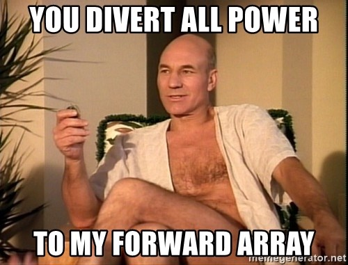 Sexual Picard - you divert all power to my forward array