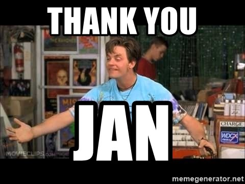 Half Baked Brian - THANK YOU  JAN