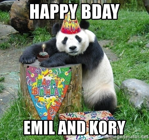 Happy Birthday Panda - HAPPY BDAY EMIL AND KORY
