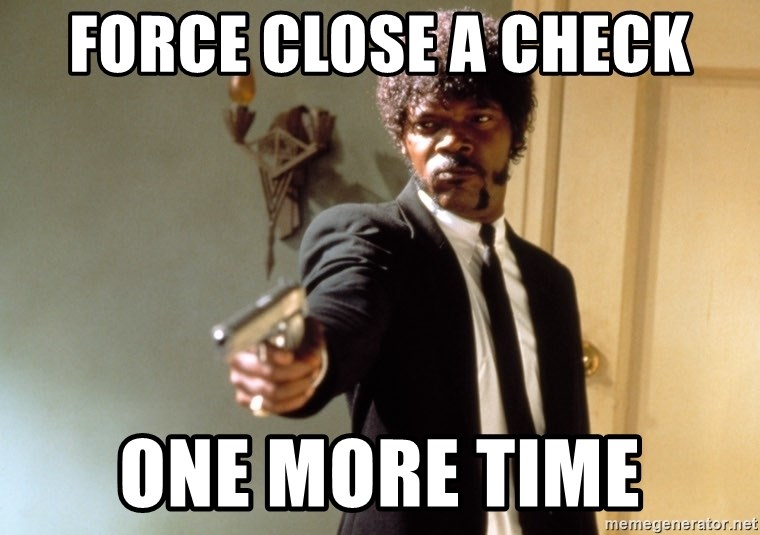 Samuel L Jackson - FORCE CLOSE A CHECK ONE MORE TIME