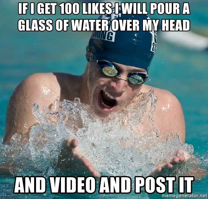 OMG WATER - If I get 100 likes I will pour a glass of water over my head And video and post it